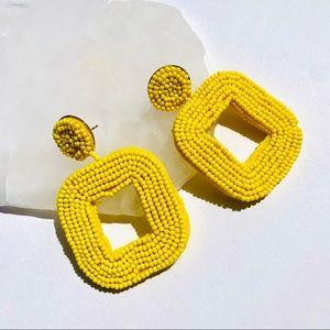 Yellow Beaded Beauties Earrings